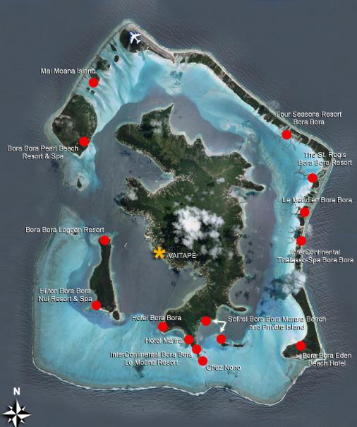 bora bora-map